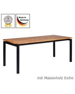 Schreibtisch Modell U mit Massivholzplatte Eichenholz