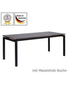 Schreibtisch Modell U mit Massivholzplatte Buchenholz