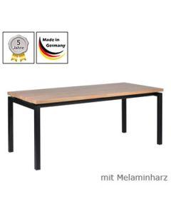 Schreibtisch Modell U mit Melaminharzplatte