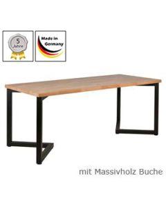 Schreibtisch Modell V mit Massivholzplatte Buchenholz