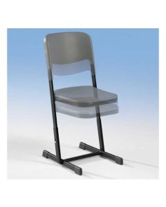 Schülerstuhl AirChair, mit geschlossenem Sitzträger, höhenverstellbar, Sitzhöhe: 43 - 51 cm
