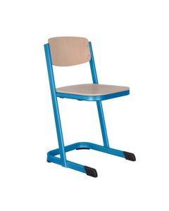Schulstühle U-Form, geschlossener Sitzträger, Gestellfarbe: Himmelblau (RAL 5015), Sitzhöhe: 46 cm (DIN ISO 6)