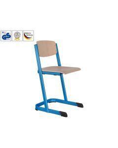 Schulstühle U-Form, mit offenem Sitzträger (Modell 1-B), Himmeblau