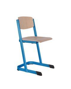 Schulstühle U-Form, offener Sitzträger, Gestellfarbe: Himmelblau (RAL 5015), Sitzhöhe: 46 cm (DIN ISO 6)
