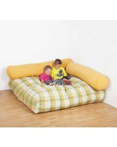 Sitzecke mit Flockenfüllung, 3-teilig, viele verschiedene Farben