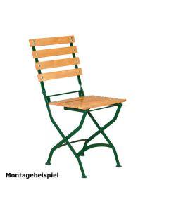 4er Set Stuhlgestell für Outdoorstühle, klappbar, Gestell Grün