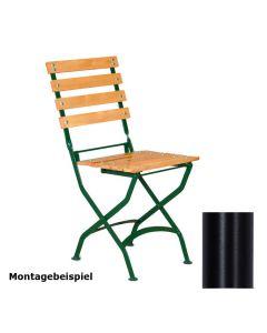 Stuhlgestell für Outdoorstühle, klappbar, Gestell Schwarz