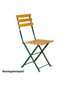 4er Set Stuhlgestell für Outdoorstühle Nostalgie, klappbar, Gestell Grün