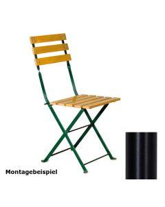 4er Set Stuhlgestell für Outdoorstühle Nostalgie, klappbar, Gestell Schwarz