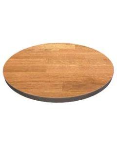 Massivholz-Tischplatten Eiche 40 mm, rund