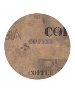 2 x Werzalit Tischplatte, 70 cm rund, Caffe sack 113