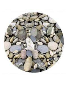 2 x Werzalit Tischplatte, 80 cm rund, Steine