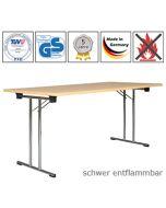 Klapptisch Premium mit schwer entflammbarer Tischplatte (B1)