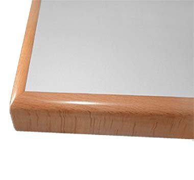 Tischplatten mit einer massiven Buchekante
